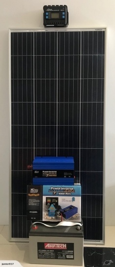 SOLAR PANEL BUNDLE – 160w Solar Panel, 20w Controller, 120AH Battery, 1000w inverter