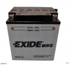 Motorbike battery Exide YB30L-B 30ah 420 cca