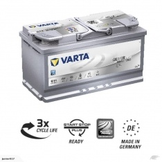 VARTA G14 AGM BATTERY LN5 VARTA DIN88LAGM SILVER DYNAMIC AGM BATTERY 850 CCA
