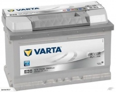 VARTA E38 BATTERY VARTA DIN65L SILVER DYNAMIC BATTERY 750 CCA