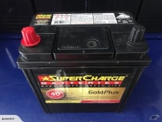 SUPERCHARGE NS40Z 40B20R 390 CCA BATTERY 40 MONTHS WARRANTY