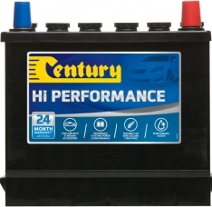43 CENTURY HI PERFORMANCE CAR BATTERY 350 CCA 24 MONTHS WARRANTY