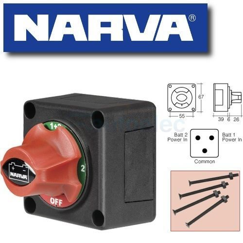 NARVA BATTERY MASTER SWITCH 4 WAY BOAT MARINE CARAVAN DUAL SYSTEM ISOLATOR NEW 61084BL