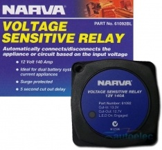 NARVA VOLTAGE SENSITIVE RELAY 12V VSR ISOLATOR 140A DUAL BATTERY SYSTEM 61092BL