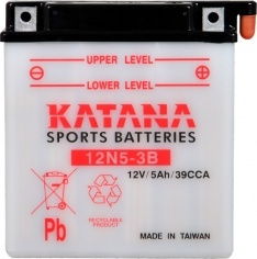 12N5-3B Katana Conventional Motorcycle Battery 12V 35CCA 5AH 6 MONTHS WARRANTY