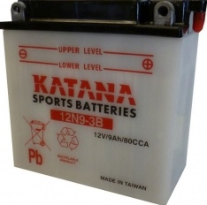 12N9-3B Katana Conventional Motorcycle Battery 12V 85CCA 9AH 6 MONTHS WARRANTY
