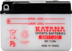 6N11-2D Katana Conventional Motorcycle Battery 6V 11AH 6 MONTHS WARRANTY