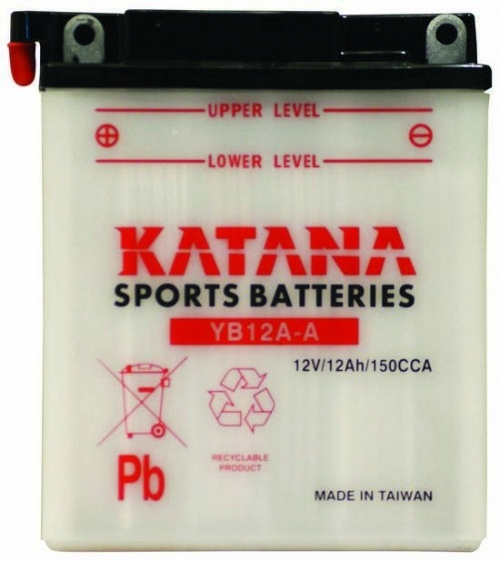 YB12A-A Katana Conventional Motorcycle Battery 12V 12AH 6 MONTHS WARRANTY