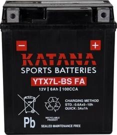 YTX7L-BS FA Katana Premium Maintenance Free VRLA Range Motorcycle Battery 12V 6AH 6 MONTHS WARRANTY
