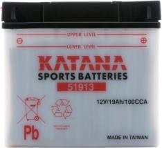 51913 Katana Premium Conventional Motorcycle Battery 12V 19AH 6 MONTHS WARRANTY