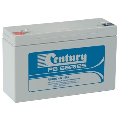 PS6100 Century PS Stationary Power 6v 10ah AGM Deep-Cycle Batteries Sealed