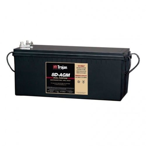 Trojan Battery 12v 230ahr AGM Deep Cycle/Starting TROJAN 8D-AGM FREE SHIPPING EXCEPT RURAL ADDRESSES