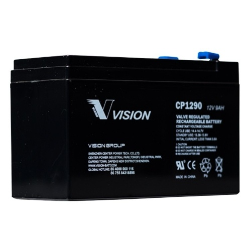 VISION CP1290 12V 9AH SECURITY ALARM BATTERY- KONTIKI BATTERY