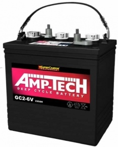 AMP-TECH Deep Cycle Battery 6v 220ah – GC2-6V