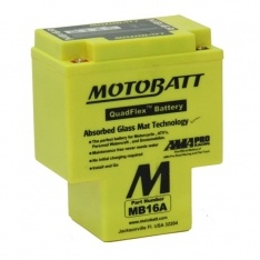 MOTOBATT QUADFLEX MB16A 12V 200CCA MOTORBIKE BATTERY YB16A-A FREE SHIPPING NATIONWIDE