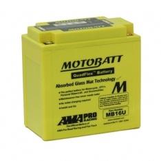 MOTOBATT QUADFLEX MB16U 12V 250CCA MOTORBIKE BATTERY YB16B YB16B-A2 FREE SHIPPING NATIONWIDE