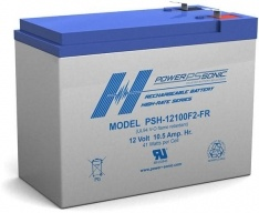 POWERSONIC 12v 10.5ah SLA BATTERY PSH-12100FR PSH-12100 PSH AGM DEEP-CYCLE BATTERIES SEALED