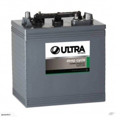 6 volt DEEP CYCLE BATTERY R220 230 AH 2 years warranty ULTRA R220U, US2200, CR220, T-105