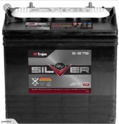 TROJAN DEEP CYCLE BATTERY 8 VOLT 165 AH TROJAN S-875 FREE SHIPPING EXCEPT RURAL ADDRESSES