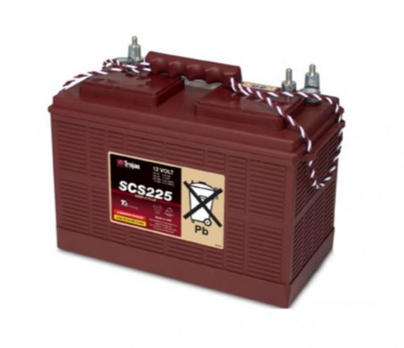 TROJAN DEEP CYCLE BATTERY 12V 130 AH TROJAN SC225