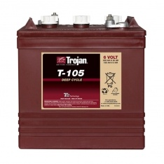 TROJAN DEEP CYCLE BATTERY 6 VOLT 225 AH TROJAN T-105 FREE SHIPPING