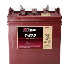Trojan Battery 8v 170ahr Flooded Deep Cycle Lead Acid TROJAN T-875 FREE SHIPPING EXCEPT RURAL ADDRESSES
