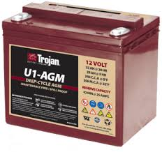 TROJAN AGM DEEP CYCLE BATTERY 12V 33AH TROJAN U1-AGM FREE SHIPPING EXCEPT RURAL ADDRESSES