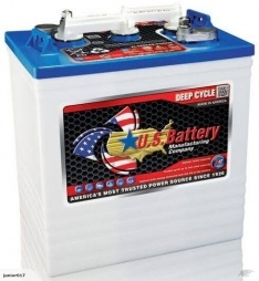 6V DEEP CYCLE BATTERY 251AH US145 (Trojan T-145) US-145 BATTERY 2 year warranty